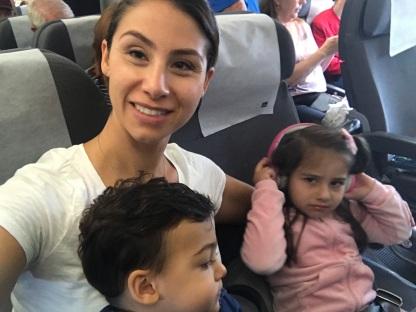 Grumpy kids on a long haul flight
